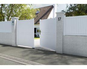 Portail Battant Pvc Guernesey Exterieur