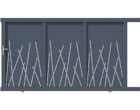Portail Coulissant Aluminium Caminia Exterieur