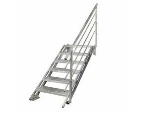 escalier exterieur droit new york acier galvanise