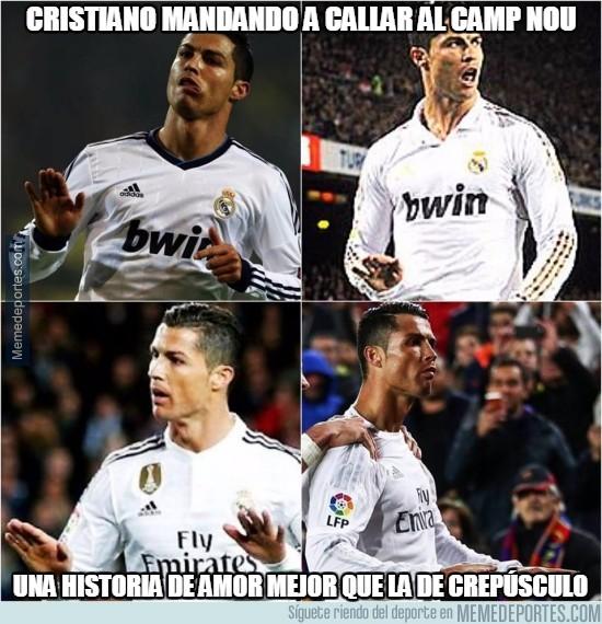 Cristiano Mandando A Callar Al Camp Nou