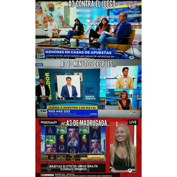 La extraña moralidad de los medios...