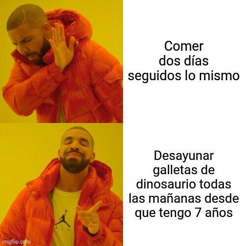 Las galletas dinosaurio no se tocan