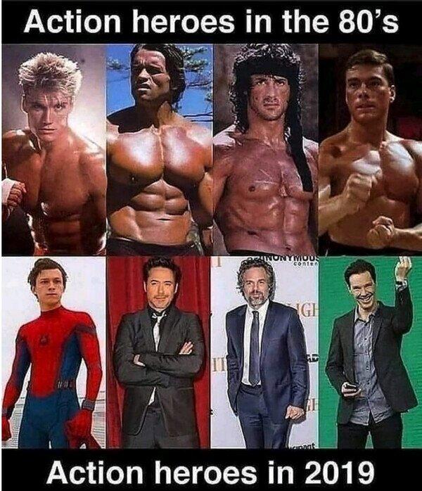 Los héroes de acción ya no son lo que eran