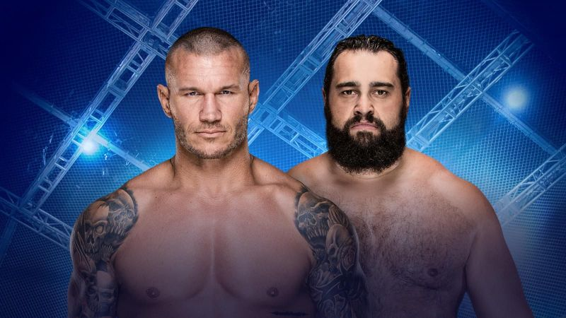 Image result for Randy Orton vs. Rusev Hell In A Cell