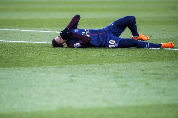 PSG's Neymar injured during a recent Ligue 1 game