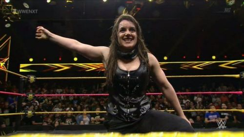 Nikki Cross entered the Women's Royal Rumble to a cheering audience.