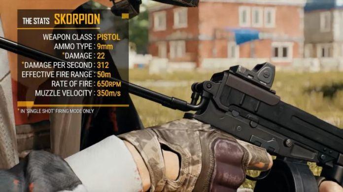 new gun in PUBG Mobile - Skorpion