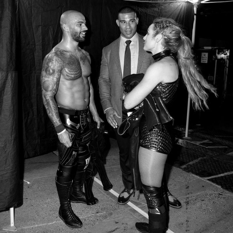 Ricochet, Becky Lynch and Jason Jordan