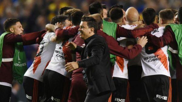 Gallardo overjoyed after guiding River past Boca in Copa Libertadores