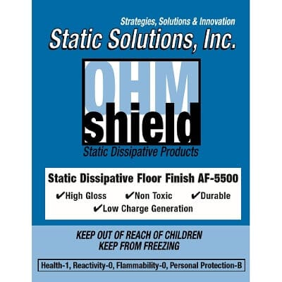 Ohm-Shield™ - Elite Dissipative Floor Finish - Static Solutions, Inc