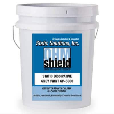 5 Gallons ESD Urethane Enhanced Conductive Paint