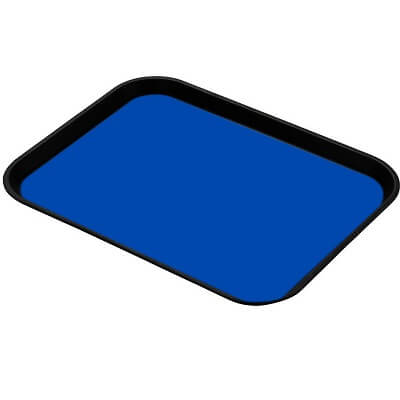 """A blue esd tray liner specifically cut for standard trays at 16"""" x 24"""""""