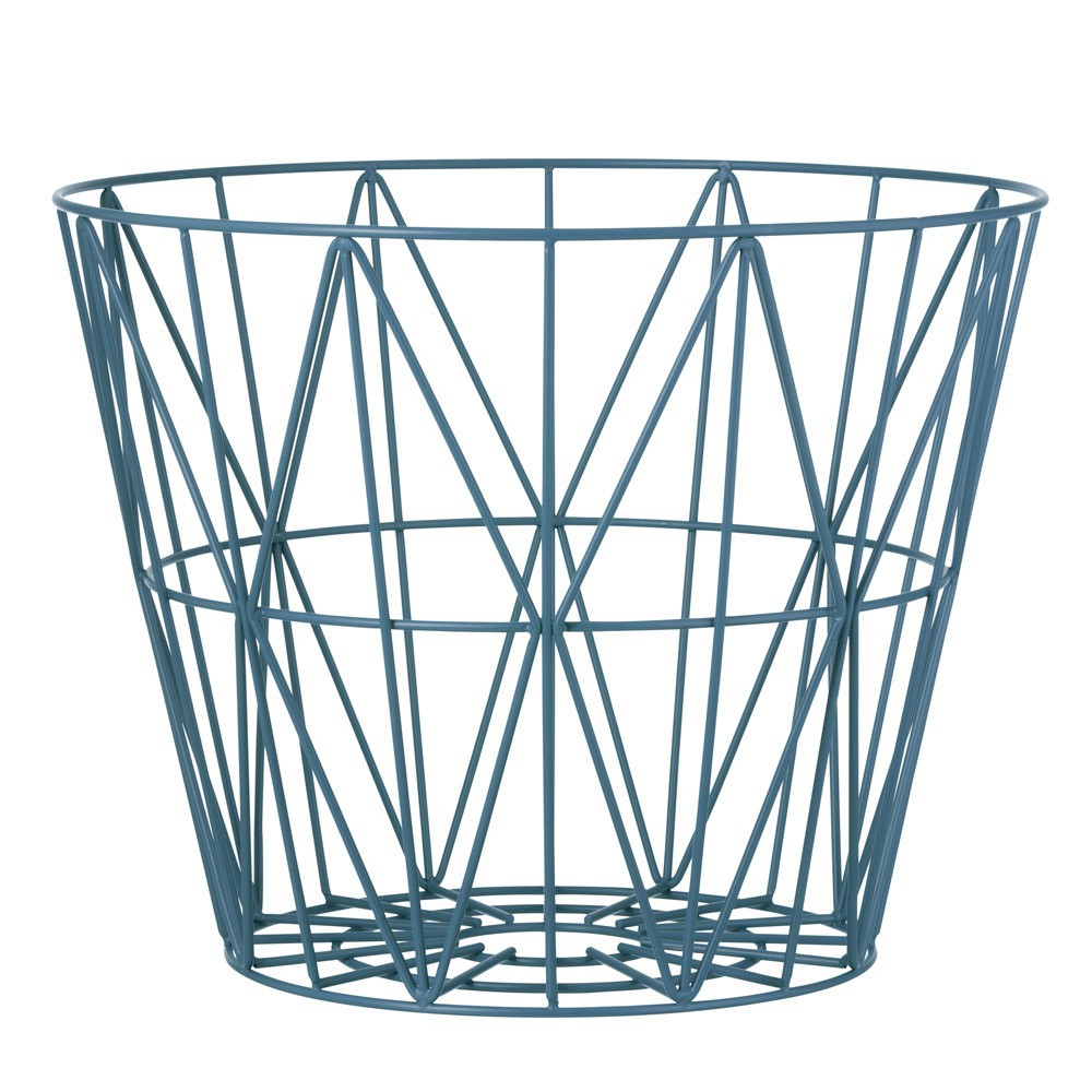 large wire basket petrol blue petrol blue ferm living design