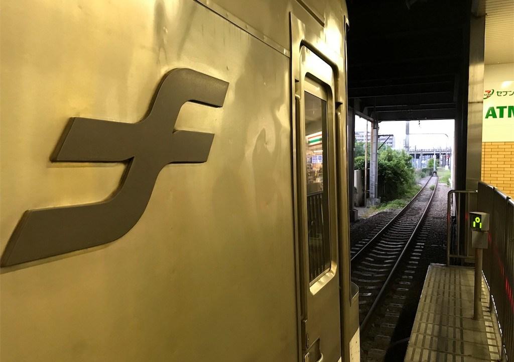 貝塚駅停車中の地下鉄箱崎線