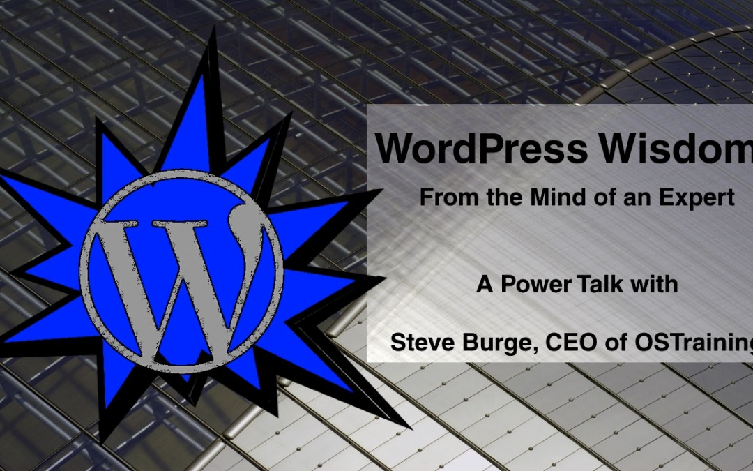 WordPress Wisdom From the Mind of an Expert