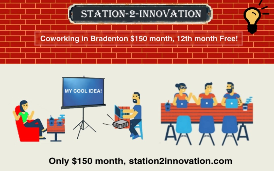 Coworking in Bradenton only $150 a month