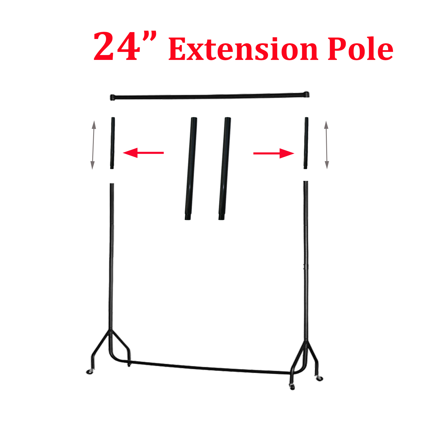 3 4 5 6 Ft Garment Rail Clothes Display Stand Coat Hanger