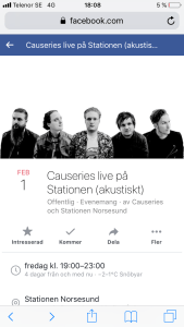 Causeries akustisk afton @ Stationen norsesund