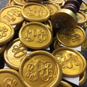 Gold Wax Monogram seal