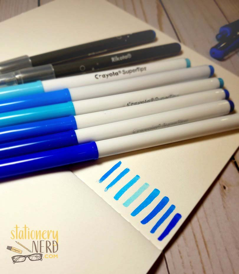 BLUE markers
