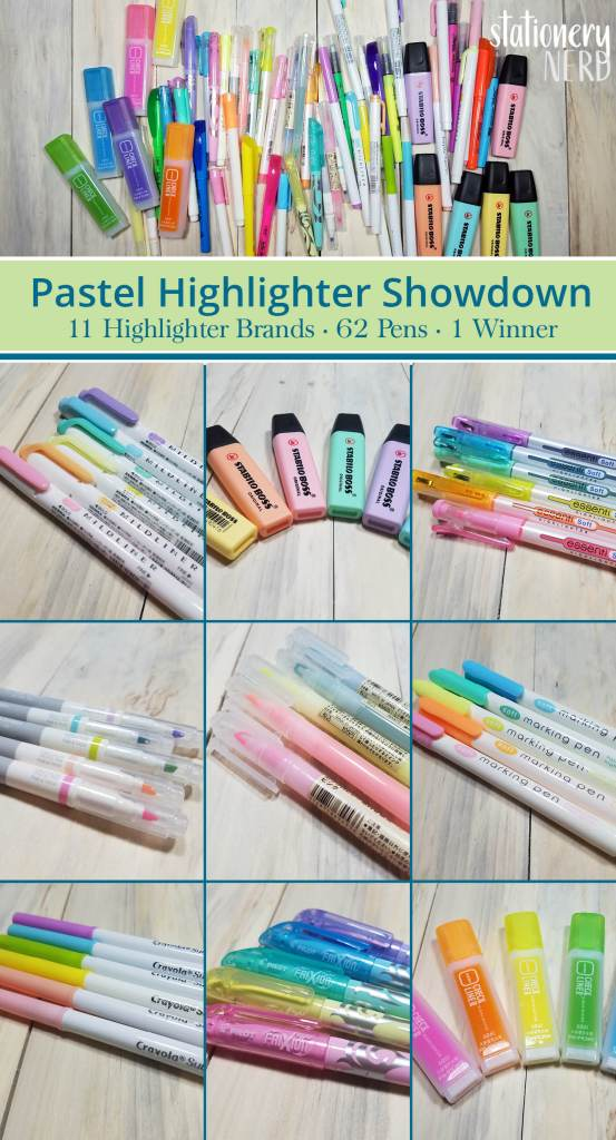 Stationery Nerd - pastel highlighter review