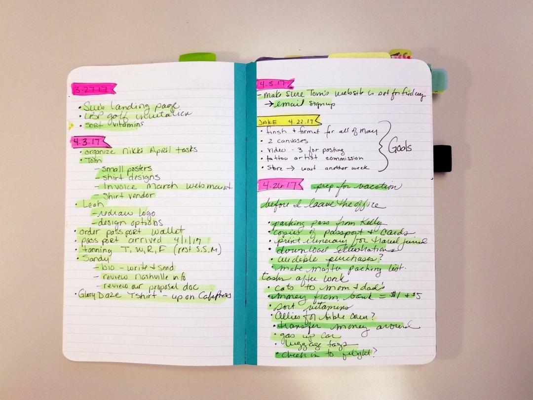 Pam's Bullet Journal