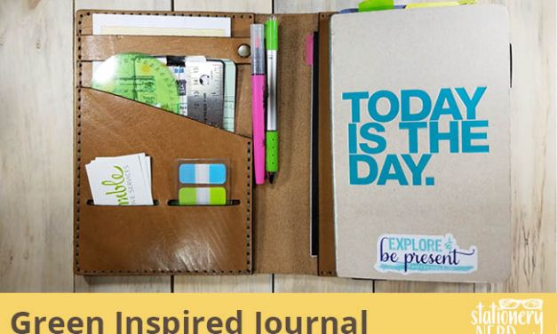 Green Inspired Chipboard Exposed Binding Journal