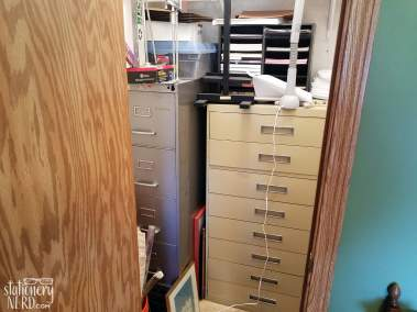 Filing Cabinets in Closet