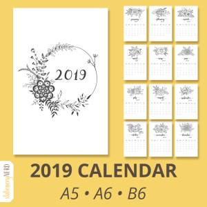 2019 Floral calendar