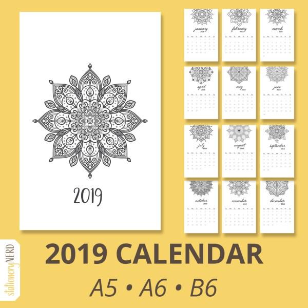 2019 Mandala Calendar