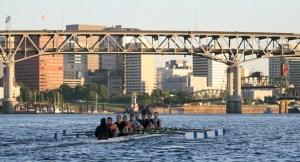 Rowing on beautiful Willamette River