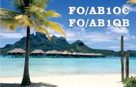 Our QSL Card from Bora Bora