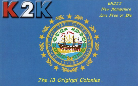 K2K QSL Card