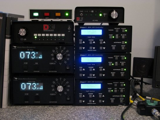 Rotator and HF Antenna Controllers in the Shack