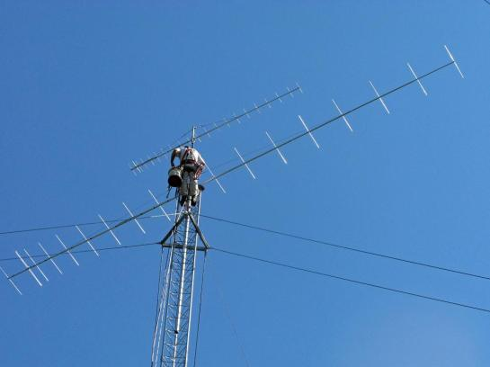 VHF-UHF Beams On Mast