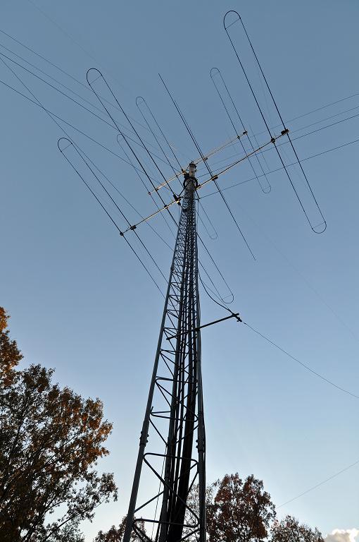 4 Over 4 HF Array On Tower