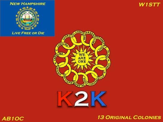 New K2K New Hampshire QSL Card