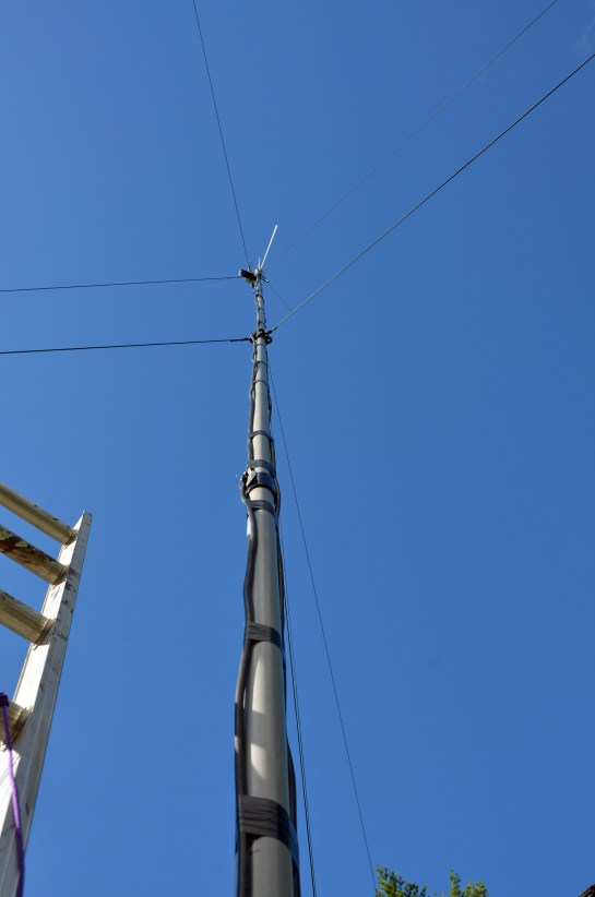 Guying Arrangement Looking Up The Mast