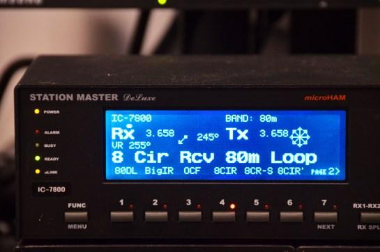 80m Split Tx/Rx Antenna Selection