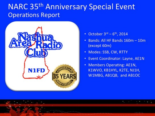 N1FD Special Event Overview