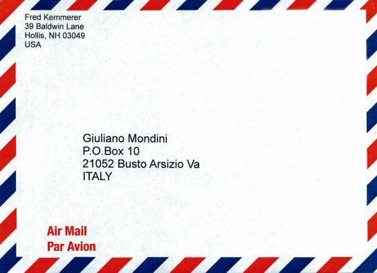 QSL Envelope Generated By DXLab