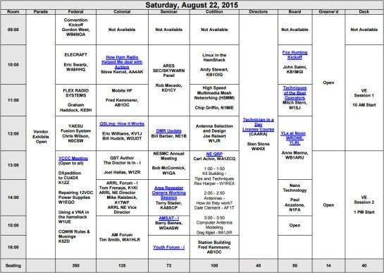 Saturday Forum Schedule