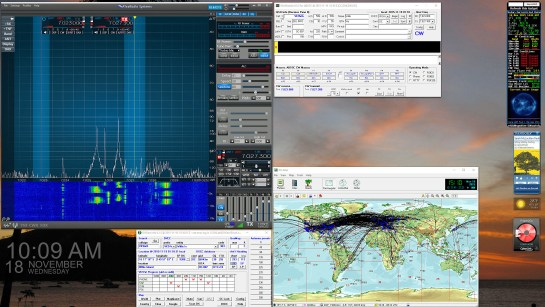 Working The VK9WA DXpedition - Right Monitor