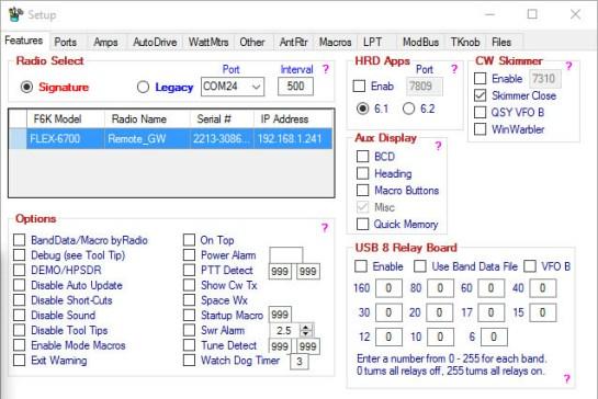 DDUtil Setup - SDR Virtual CAT Access