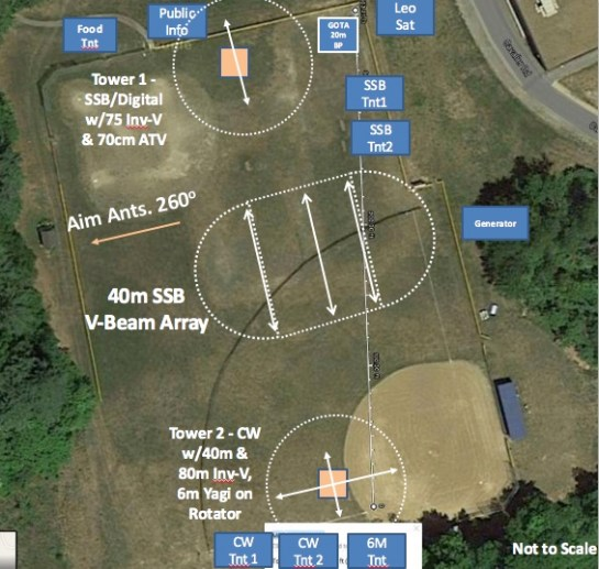2016 Field Day Site Layout
