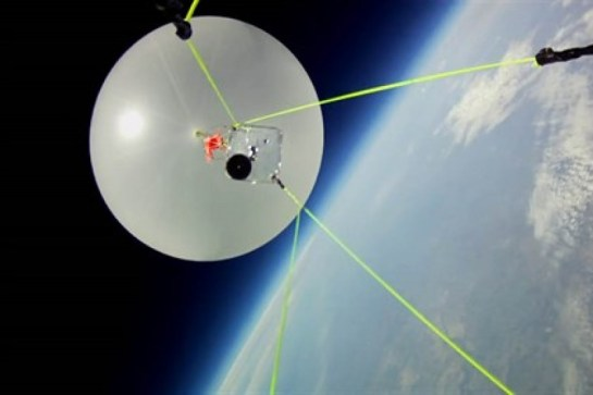 High Altitude Balloon At The Edge Of Space