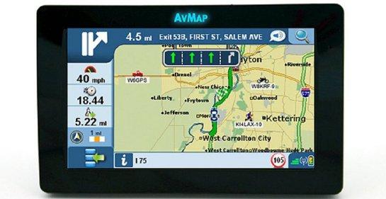 AvMap GeoSat 6 APRS Tactical Display