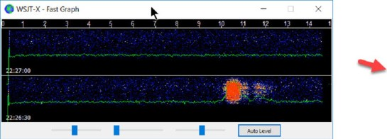 Meteor Scatter Pings Detected via MSK144