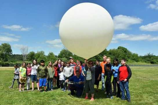 Students and Teacher Ready To Launch Their High-Altitude Balloon
