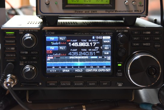 New IC-9700 In Satellite Mode
